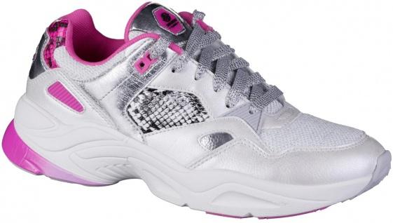 DOCKERS Damen Synthetik Sneakers weiß, Light Weight Laufsohle