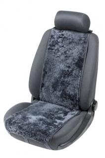 weiche Universal Lammfell Autositz Auflage Cosmo anthrazit, kühlt im Sommer, wärmt im Winter, 12-14 mm Fell Höhe