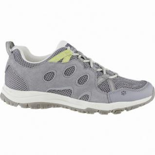 Jack Wolfskin Rocksand Chill Low W Damen Leder Outdoor Schuhe grey, atmungsaktiv mit Texacool, 4440152
