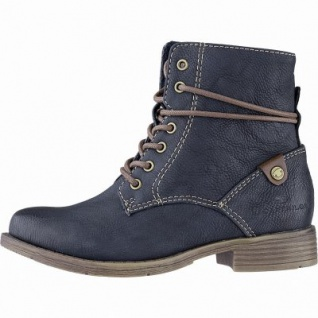 TOM TAILOR Mädchen Winter Leder Imitat Boots navy, 12 cm Schaft, Fleecefutter, weiches Fußbett, 3741162/37