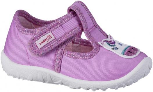 SUPERFIT Mädchen Textil Lauflern Hausschuhe rosa, mittlere Weite, perforierte...