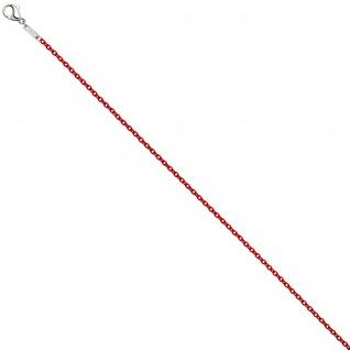 Rundankerkette Edelstahl rot lackiert 42 cm Kette Halskette Karabiner
