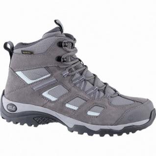 Jack Wolfskin Vojo Hike 2 Texapore Mid Women Damen Leder Outdoor Schuhe tarmac grey, griffige Trekking-Sohle, 4442152/4.5
