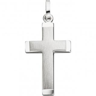 Anhänger Kreuz 925 Silber matt mattiert Kreuzanhänger Silberanhänger Silberkreuz
