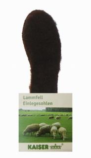 Kaiser Naturfellprodukte warme Damen, Herren Lammfell Einlegesohlen braun