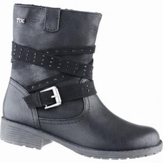 Indigo modische Mädchen Synthetik Winter Tex Stiefeletten black, Warmfutter, warmes Fußbett, 3739159