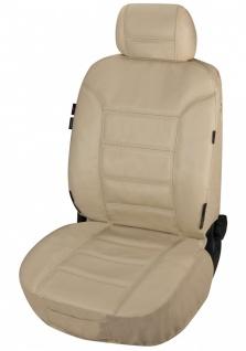 ZIPP IT Universal Echt Leder Auto Sitzbezug beige, RV System, Leder Auto Scho...