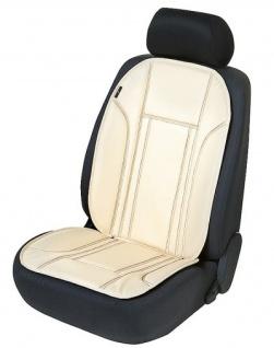 Ravenna Universal Kunstleder Auto Sitzauflage beige waschbar, PKW Sitzaufleger, Sitzschoner