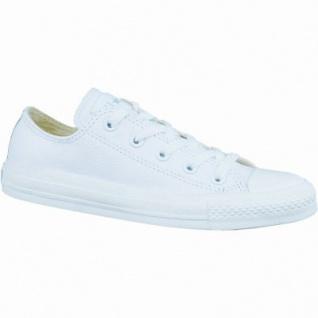 Converse CTAS Chuck Taylor All Star Core Mono Leather Damen und Herren Leder Chucks white, 1236215/46