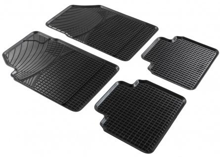 Universal Komplett Set Auto Gummimatten schwarz 4-tlg. zuschneidbar, 46x67+44...