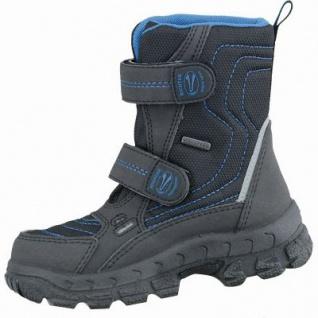 Richter Jungen Winter Tex Boots schwarz, mittlere Weite, molliges Warmfutter, warmes Fußbett, 3737182/37