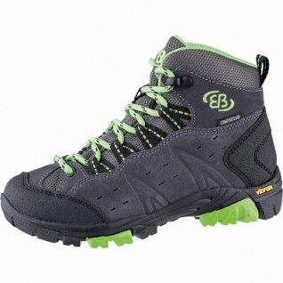 Brütting Mount Bona High Kids Mädchen, Jungen Leder Trekking Schuhe anthrazit, Textilfutter, Textileinlegesohle, 4441105/33