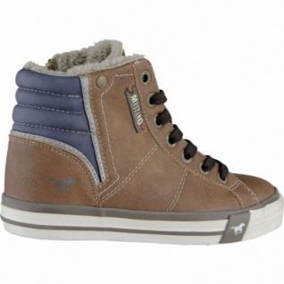 Mustang coole Jungen Synthetik Winter Sneakers kastanie, Warmfutter, warme Decksohle, 3739109 - Vorschau 2