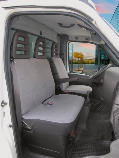 Universal Polyester Sitzbezüge Transporter grau, waschbar, 1 Vordersitzbezug,...