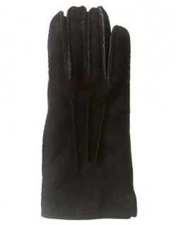 Fingerhandschuhe Lammfell, Fellhandschuhe braun, Größe 10
