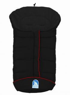 molliger Baby Winter Fleece Fußsack schwarz, voll waschbar, für Kinderwagen, Buggy, ca. 98x47cm