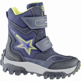 Geox coole Jungen Winter Synthetik Boots navy, Warmfutter, Thermo Fußbett, 3739173