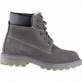 Dockers modische Mädchen Leder Winter Boots grau, molliges Warmfutter, warme Decksohle, Profilsohle, 3741244/37