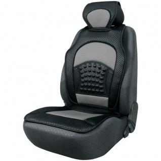 trendige Universal Auto Sitzauflage Space schwarz silber mit Nackenstütze, 30...
