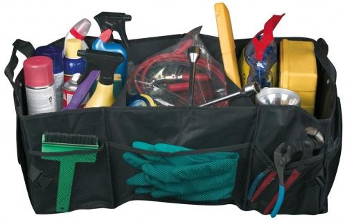 praktische Universal Polyester Kofferraum Tasche mit Klett schwarz, 70x37 cm,...