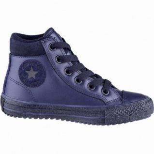Converse CTAS Chuck Taylor All Star Converse Boot Mädchen Leder Imitat Sneakers navy, Fleecefutter, 3739112/35