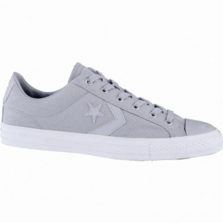 Converse Star Player coole Herren Canvas Sneakers wolf grey, Meshfutter, 2139113/42