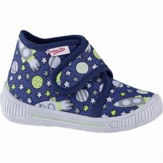 Superfit Jungen Textil Hausschuhe blau, mittlere Weite, anatomisches Superfit Fußbett, 3841101/18