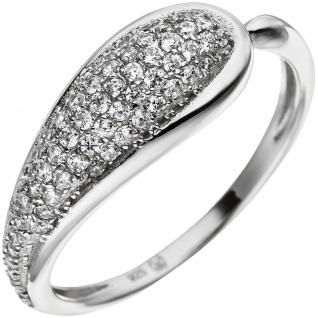 Damen Ring aus 925 Sterling Silber mit 65 Zirkonia Silberring