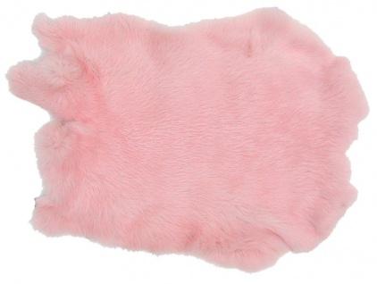 Kaninchenfelle rosa gefärbt, ca. 30x30 cm, Felle vom Kaninchen mit seidigem Haar