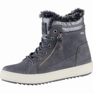 TOM TAILOR warme Damen Synthetik Winter Boots grau, molliges Warmfutter, Tex Ausstattung, 1639292