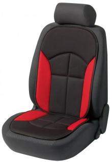 bequeme Universal Auto Sitzauflage Novara rot, hohes Rückenteil, 30 Grad wasc...
