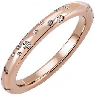 Damen Ring 585 Gold Rotgold Rosé gold 34 Diamanten Brillanten Diamantring