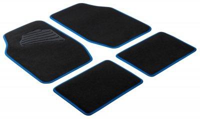 Komplett Set Universal Auto Fußraum Matten Matrix blau 4-teilig, Anti Slip, rutschfest, Autoteppiche, Auto Fußmatten