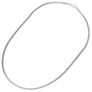 Zopfkette 585 Weißgold 2, 6 mm 45 cm Gold Kette Goldkette Weißgoldkette Halskette