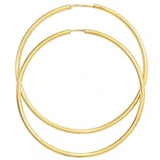 Creolen 585 Gold Gelbgold Ohrringe Goldohrringe