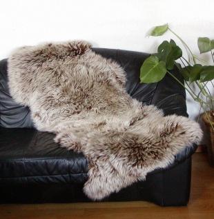 australische Doppel Lammfelle aus 1, 5 Fellen hellbraune Spitzen, vollwollig, ...