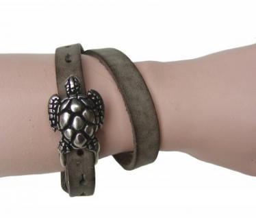 Boom Belts Wechselschließe Schildkröte silber für Damen, Herren Leder Armbänder mit 1 cm Breite - Vorschau