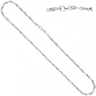 Singapurkette 925 Silber 2, 9 mm 45 cm Halskette Kette Silberkette Karabiner - Vorschau 2
