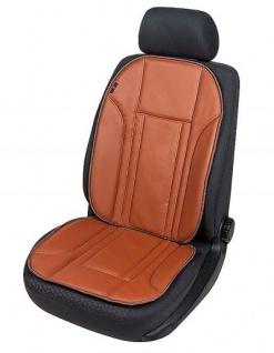 Universal Kunstleder Auto Sitzauflage braun, waschbar, mit und ohne Seitenairbag