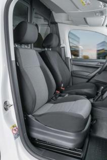 Passform Sitzbezüge Transporter VW Caddy, passgenauer Stoff Sitzbezug Einzels...