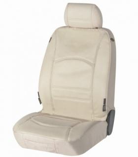 Universal Echt Leder Auto Sitzbezug beige für fast alle PKW, für Fahrersitz oder Beifahrersitz