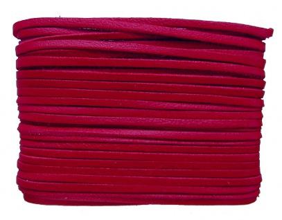weiches Leder Flechtband Ziegenleder auf Karte rot, Länge 10 m, Breite ca. 2,...