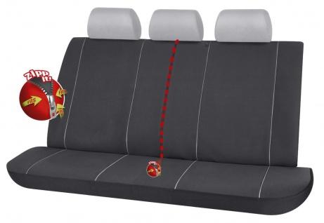 Serie Modulo ZIPP IT Autositzbezug Rücksitzbankbezug 3-teilig schwarz mit Rei...