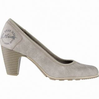 s.Oliver stilvolle Damen Leder Imitat Pumps pepper, gepolstertes Soft-Foam-Fußbett, 1041101