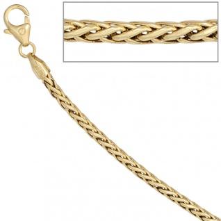 Zopfkette 585 Gelbgold 2, 6 mm 45 cm Gold Kette Halskette Goldkette Karabiner - Vorschau 5