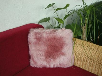 kuscheliges Lammfell Fellkissen mauve, quadratisch ca. 40x40 cm, Haarlänge ca...