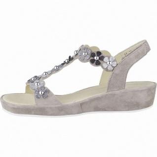 Ara Capri-Highsoft modische Damen Leder Sandalen taupe, weiches Fußbett, Comfort Weite G, 1542116/37