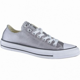 Converse Chuck Taylor All Star-OX coole Damen Canvas Metallic Sneakers gunmetal, 4238196/42