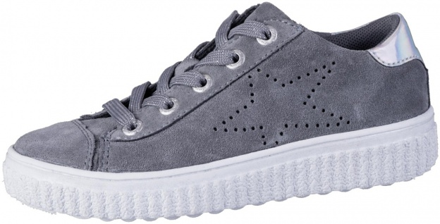 LURCHI Nelia Mädchen Leder Sneakers silver, mittlere Weite, Lurchi Leder Fußbett