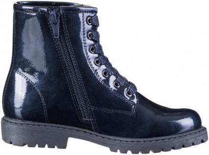 INDIGO warme Mädchen Lack Boots blue, Tex Ausstattung, Fleecefutter